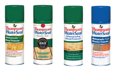 Recalled Thompson's WaterSeal Aerosol Wood and Masonry Protectors