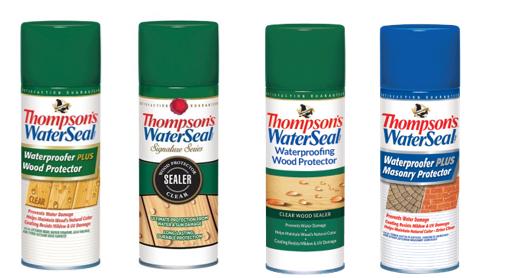 Recalled Thompson's WaterSeal Aerosol Wood and Masonry Protectors
